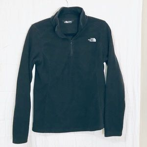 The North Face Black 1/4 zip jacket NWOT